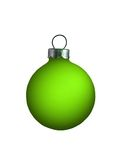 Bulb Ornament. Isolated greeen bulb ornament with a silver top Stock Images