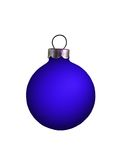 Bulb Ornament. Isolated blue bulb ornament with a silver top Royalty Free Stock Photo