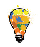 Bulb with paint Royalty Free Stock Photo