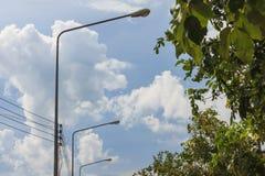 Free Bulb Pole On Street Stock Photos - 99550633
