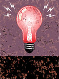 Bulb poster Royalty Free Stock Image