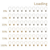 Bulb preloaders and progress loading bars Royalty Free Stock Photos