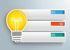 Bulb 3 Rectangle Banners Infographic Royalty Free Stock Images