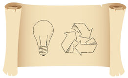 Bulb and recycling Stock Photography