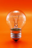 Bulb on Red Stock Image