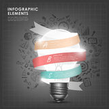 Bulb with ribbon abstract infographic elements Royalty Free Stock Photo