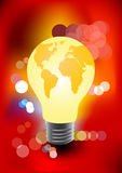 Bulb in the shape of a globe Stock Photo