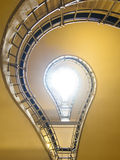 Bulb shaped stairs. Stairs in the cubist building in Prague, Czech republic Royalty Free Stock Images