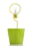Bulb silhouette Stock Image