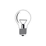 Bulb silhouettes Stock Photos