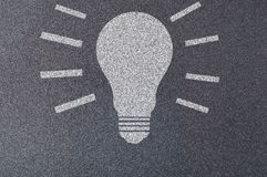 BULB simple glow - sand paper Stock Photos