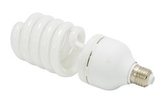Bulb spiral isolated Royalty Free Stock Images