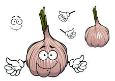 Bulb of sprouted cartoon garlic vegetable Royalty Free Stock Photo