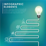 Bulb with stair concept abstract infographic elements Stock Photo