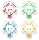 Bulb stickers Stock Image