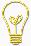 Bulb symbol Royalty Free Stock Photos