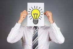 Bulb symbol / New idea concept. Stock Photo