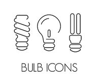 Bulb thin icons Stock Photo