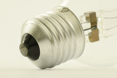 Bulb. Thread metal lighting electricity Royalty Free Stock Photography