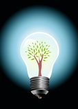 Bulb tree. Vector illustration with tree in bulb lamp Royalty Free Stock Images