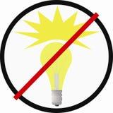 Bulb under an interdiction Stock Photo