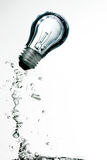 Bulb underwater Royalty Free Stock Photos