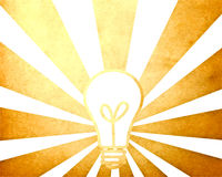 Bulb with vintage starburst background Royalty Free Stock Image