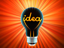 Bulb, which represents the birth of the idea Royalty Free Stock Photo