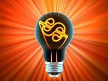 Bulb, which represents the profitable idea Stock Image