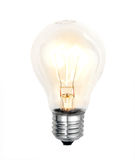 Bulb on white background Royalty Free Stock Photos
