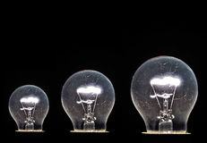 Bulb white  glow Stock Images