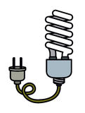 Bulb wild plug electric drawing isolated icon design Stock Photos