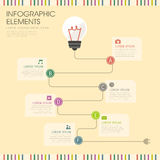 Bulb and wire infographics design Stock Images