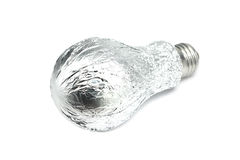 Bulb wrapped in aluminum foil Royalty Free Stock Image