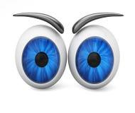 Bulbi oculari del fumetto Fotografia Stock