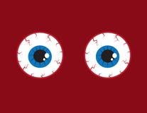Bulbi oculari iniettati di sangue illustrazione vettoriale