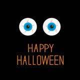 Bulbi oculari. Occhi azzurri. Carta felice di Halloween. Fotografia Stock