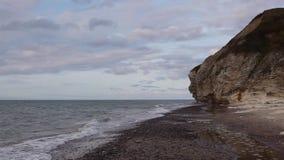 Bulbjerg是石灰石峭壁在北日德兰,丹麦, 股票视频