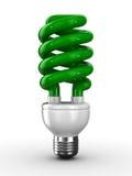 Bulbo ahorro de energía en el fondo blanco stock de ilustración