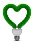Bulbo ahorro de energía en el fondo blanco Foto de archivo libre de regalías