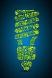 Bulbo amigável de Eco ilustração do vetor
