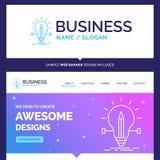 Bulbo bonito da marca do conceito do negócio, criativo, solução ilustração do vetor