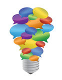 Bulbo colorido da bolha da mensagem Fotografia de Stock