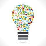 Bulbo criativo do ícone do negócio Fotografia de Stock
