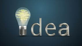 Bulbo da ideia com palavras do negócio para dentro ilustração stock