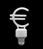 Bulbo dado forma como o euro Fotografia de Stock Royalty Free