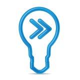 Bulbo de alta tecnología moderno Ideas que se mueven, concepto de la estrategia de marketing del negocio Fotos de archivo
