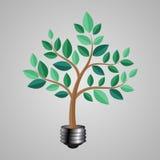 Bulbo de Jack con un árbol Ilustración del vector Imagenes de archivo