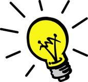 Bulbo de lámpara del vector Imagen de archivo libre de regalías