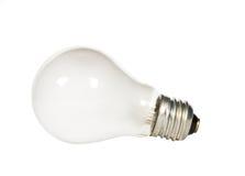 Bulbo de la luz eléctrica en blanco Imagen de archivo